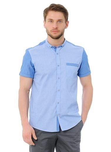 Asymmetry Gömlek Mavi